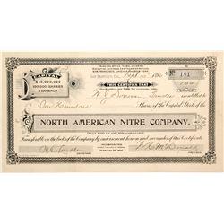 North American Nitre Company Stock Certificate