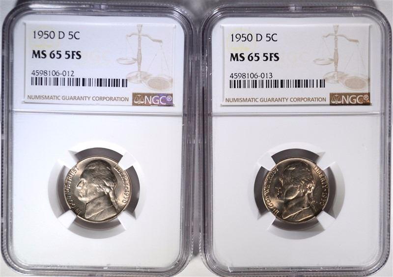 1950 D NGC MS65 Jefferson Nickel