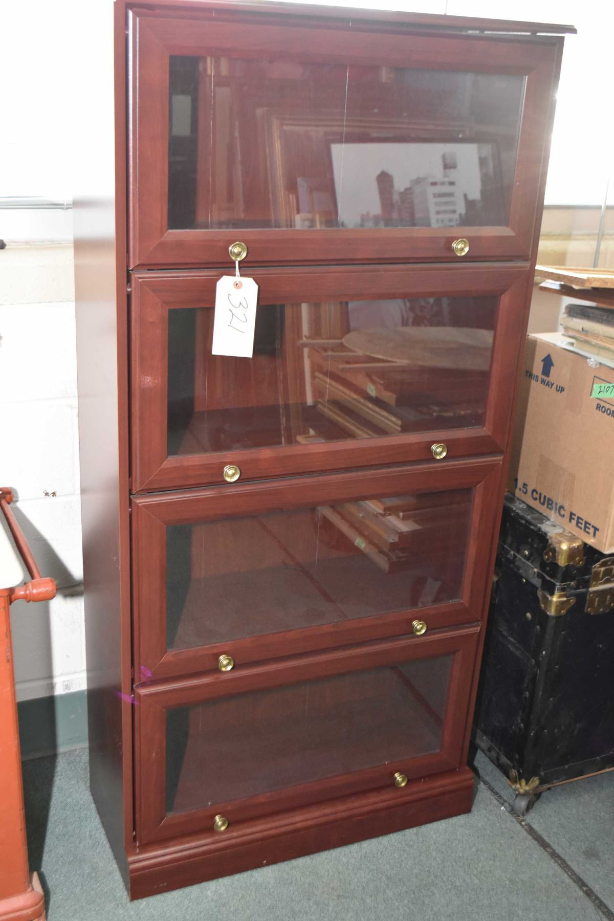 Modern Faux Four Section Barristers Bookcase