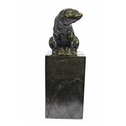 Polar Bear Eskimo Wildlife Bronze Artwork Sculpture