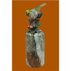 Love Bird Bronze Sculpture on Marble Base Statue