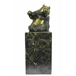 Cute Animal The Panda Hot Cast Bronze Sculpture