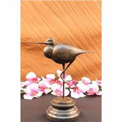 Exotic Brazilian Bird Statue on Marble Base Figurine