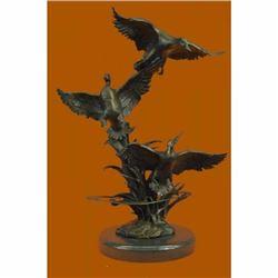 American Artist Ducks Wildlife Bronze Sculpture