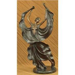 After Icart Collectible Dancer Bronze Sculpture
