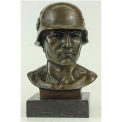 Soldier Bronze Sculpture on Marble