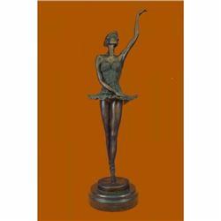 "16"" Well Trained Ballerina Bronze Statue"