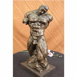 Modern Bronze Sculpture of a body builder figure