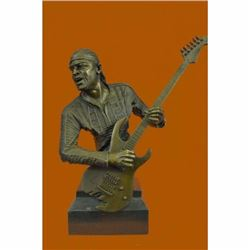 Jimmy Hendrix Playing His Guitar Bronze Sculpture