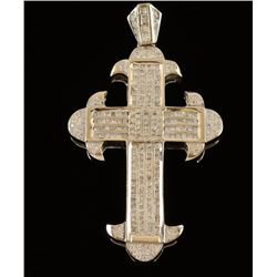 Masculine Mens Diamond Cross Pendant