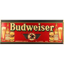 Vintage Budweiser Advertising Sign