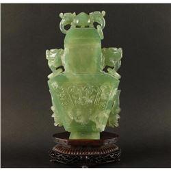 Chinese Jadeite Urn