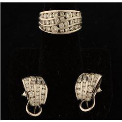 Dazzling Diamond Ring & Earrings Set