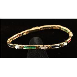 Sapphire, Diamond & Ruby Link Bracelet