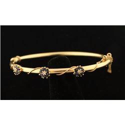 Delicate Sapphire & Diamond Bangle