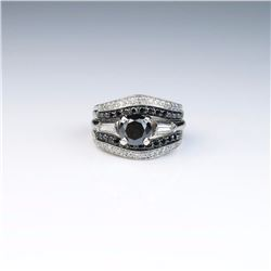Classic Ladies Platinum/14 karat White Gold Ring