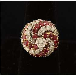 Timeless Ladies Diamond & Ruby Ring Set