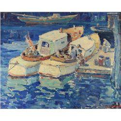 Original Oil on Board by Maurice Debonnet