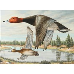 Original Oil by William Moore for Ducks Unlimited