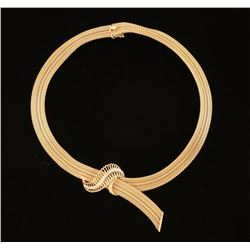 Beautiful 14 KT Yellow Gold and Diamond Necklace