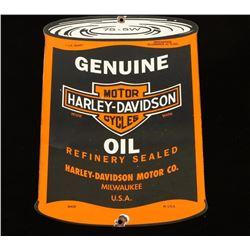 Vintage Harley Davidson Motor Oil Sign