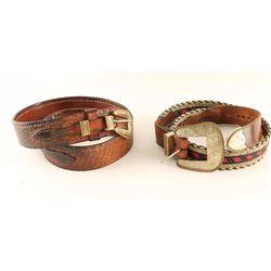 Lot of 2 Western Belts