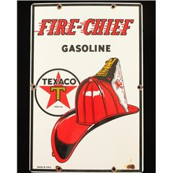 Vintage Fire Chief Gasoline Pump Sign