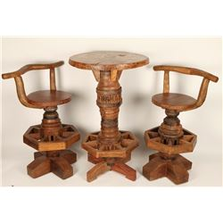 Rustic Log Table & Chairs Set