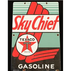Vintage Sky Chief Texaco Gas Pump Sign