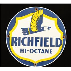 Vintage Richfield Hi-Octane Gas Pump Sign
