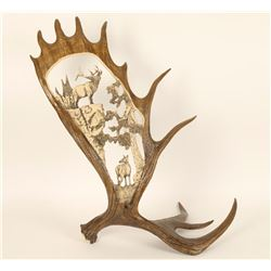 Faux Antler with Elk Design