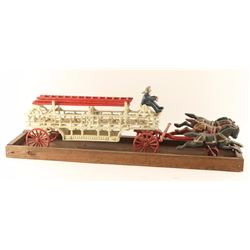 Repro Cast Iron Fire Rig with Horse Team