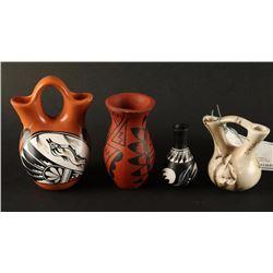 Lot of 4 Miniature Native American Pots