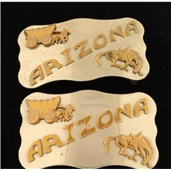 Pair of Chambers Belt Co. Phoenix, AZ Belt Buckles