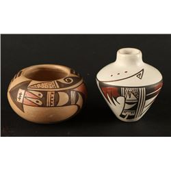 Collection of 2 Miniature Indian Pots