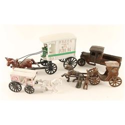Lot of 5 Repro Cast Iron Toys