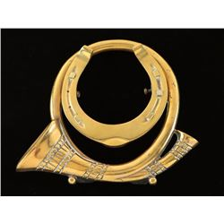 Brass Hunting Emblem
