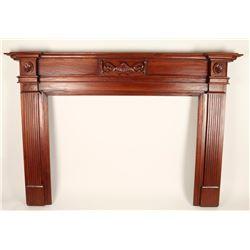 Solid Mahogany Fireplace Mantel