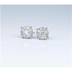 Striking Ladies Diamond Earrings