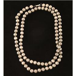 Rare Navajo Silver Bead Necklace