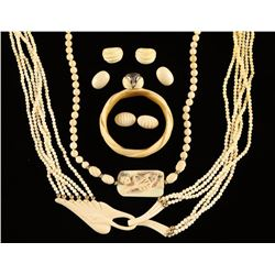 Collection of Ivory Jewelry