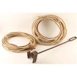(2) Ropes and a Branding Iron