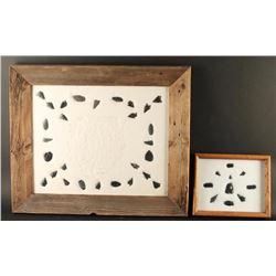 (2) Framed Arrowheads Displays
