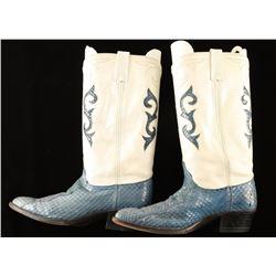 Pair of Dan Post Ladies Snakeskin Boots