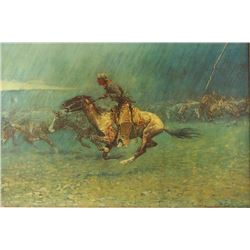 Print on Canvas by Frederic Remington
