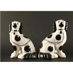 Collection of 2 Ceramic Dog Figurines