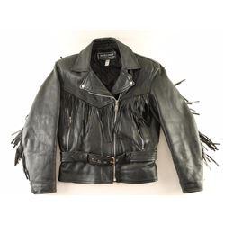 Ladies Fringed Leather Jacket