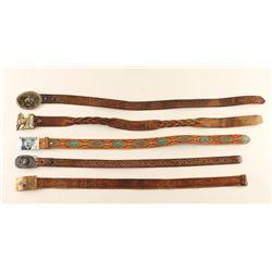 Lot of 5 Western Belts