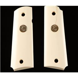 Pair of Colt Medallion Ivory Grips