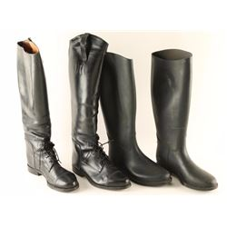 Two Pairs Ladies Riding Boots